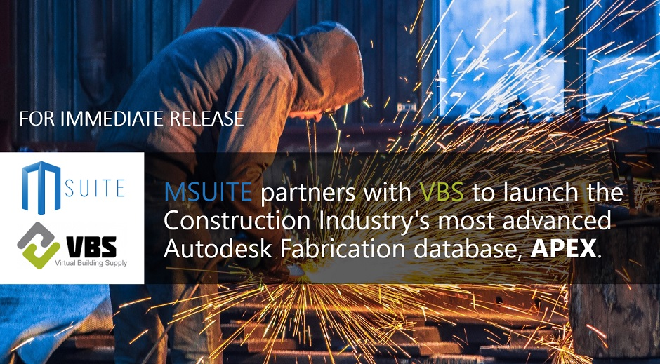 MSUITE-VBS-Partnership-APEX-Autodesk Fabrication Database
